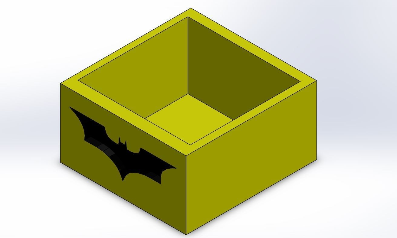 Capture 1.JPG Download STL file BATMAN POT • 3D print template, Yoyos