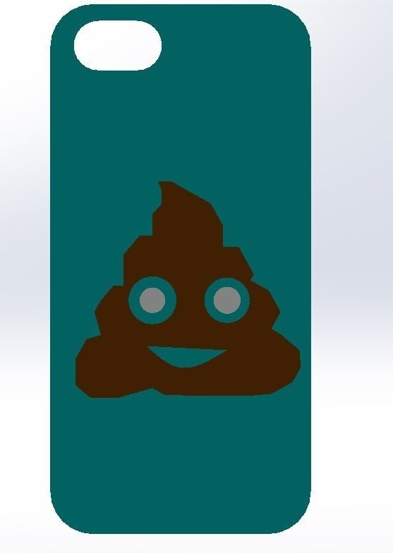 7.jpg Download STL file IPHONE 5 / 5S COVER (Emojie ca **) • 3D printer object, Yoyos