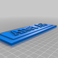 Télécharger fichier STL gratuit Plaque Anet A8 • Plan pour imprimante 3D, eb3849