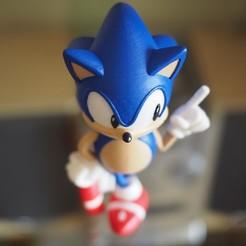 Plan 3D gratuit Sonic le hérisson! (Avec logo), Photopasta_3d