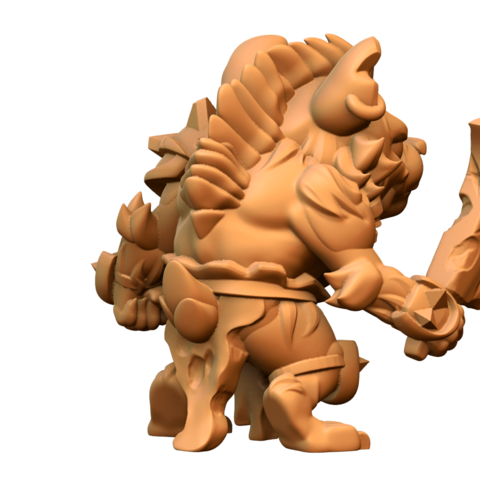 untitled.597.png Download free STL file Gnoll • 3D printable design, HeribertoValle