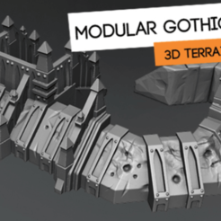 Download free STL file Gothic Barricade set • 3D print object, HeribertoValle