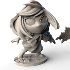 Free 3d printer model Momodora - Leaf Priestess Kaho Figure, HeribertoValle