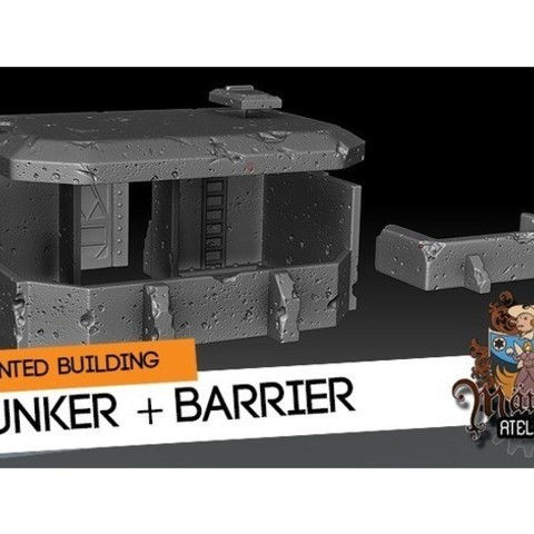 Download free STL files Bunker and Barrier, HeribertoValle