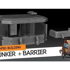 Free STL Bunker and Barrier, HeribertoValle