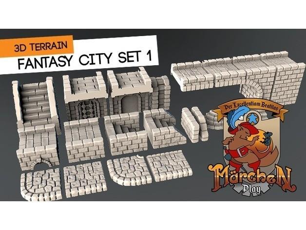 5e0c6d2104d4163eafa149fb8b71e4bf_preview_featured.jpg Download free STL file Fantasy city set • 3D printable model, HeribertoValle