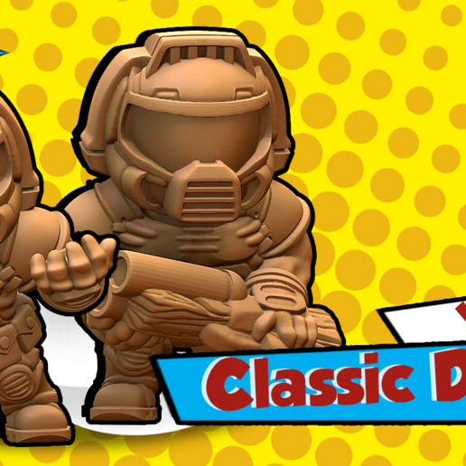 Download Free 3d Printing Models Classic Doomguy Cults