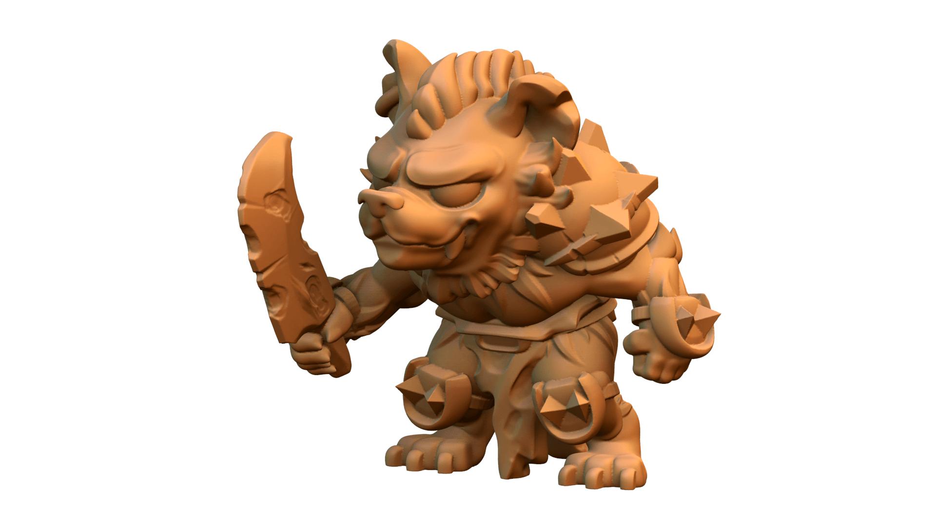 untitled.596.png Download free STL file Gnoll • 3D printable design, HeribertoValle