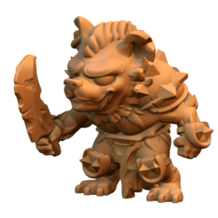 Free 3D printer files Gnoll, HeribertoValle