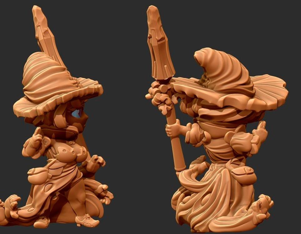 Capture d'écran 2018-01-24 à 12.14.26.png Download free STL file Kingdom Death Flower witch Chibi • 3D printing template, HeribertoValle