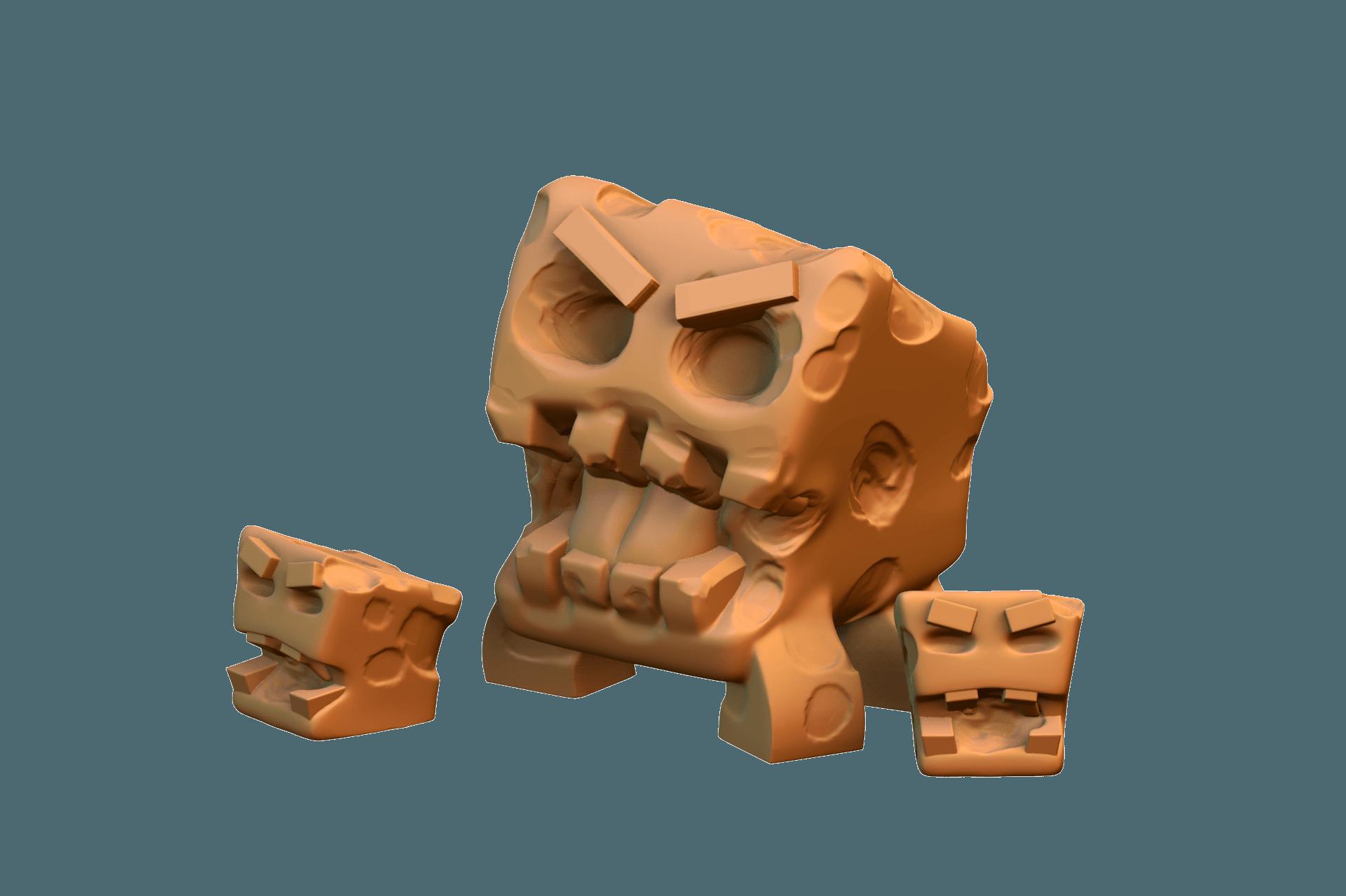 untitled.777.png Download free STL file Tofu Monsters • 3D print design, HeribertoValle