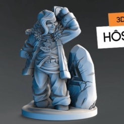fichier imprimante 3d gratuit Hostra Thorfinn, HeribertoValle