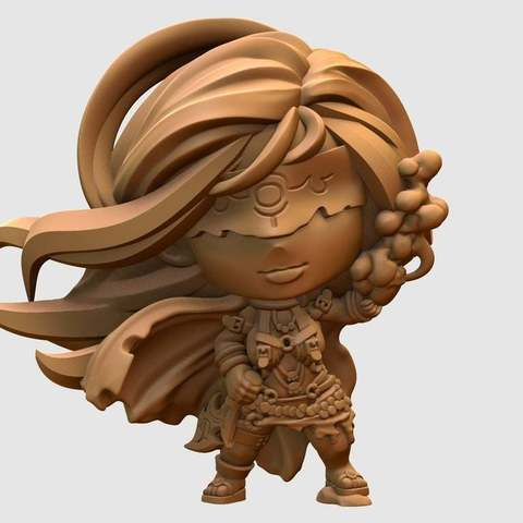 Impresiones 3D gratis Altavoz blanco chibi miniatura, HeribertoValle