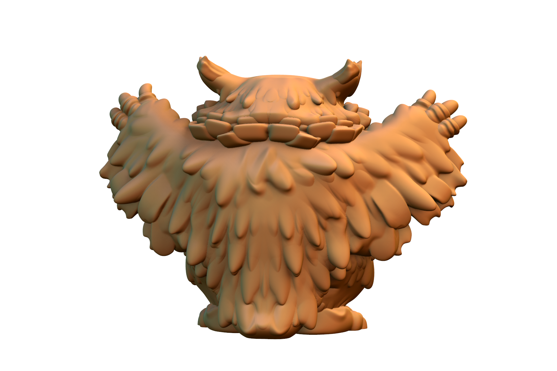 untitled.493.png Download free STL file Owlbear Cub • 3D print template, HeribertoValle