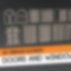 moderndoor1.stl Download free STL file Doors and windows terrain kitbash kit • 3D printing template, HeribertoValle