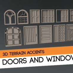 Free 3D model Doors and windows terrain kitbash kit, HeribertoValle
