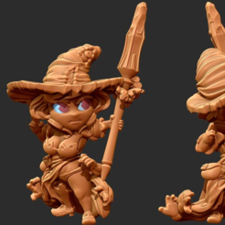 Free 3D printer files Kingdom Death Flower witch Chibi, HeribertoValle