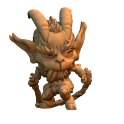 untitled.430.png Download free STL file Krampus chibi miniature • 3D printable design, HeribertoValle