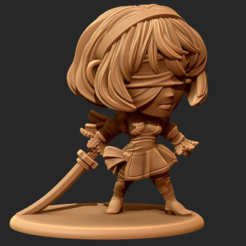 Free 3D print files YorHa No 2 Type B Chibi figurine, HeribertoValle