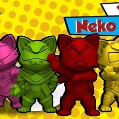 Imprimir en 3D gratis Muestrario Neko Rangers, HeribertoValle