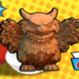 Download free 3D printing models Owlbear Cub, HeribertoValle