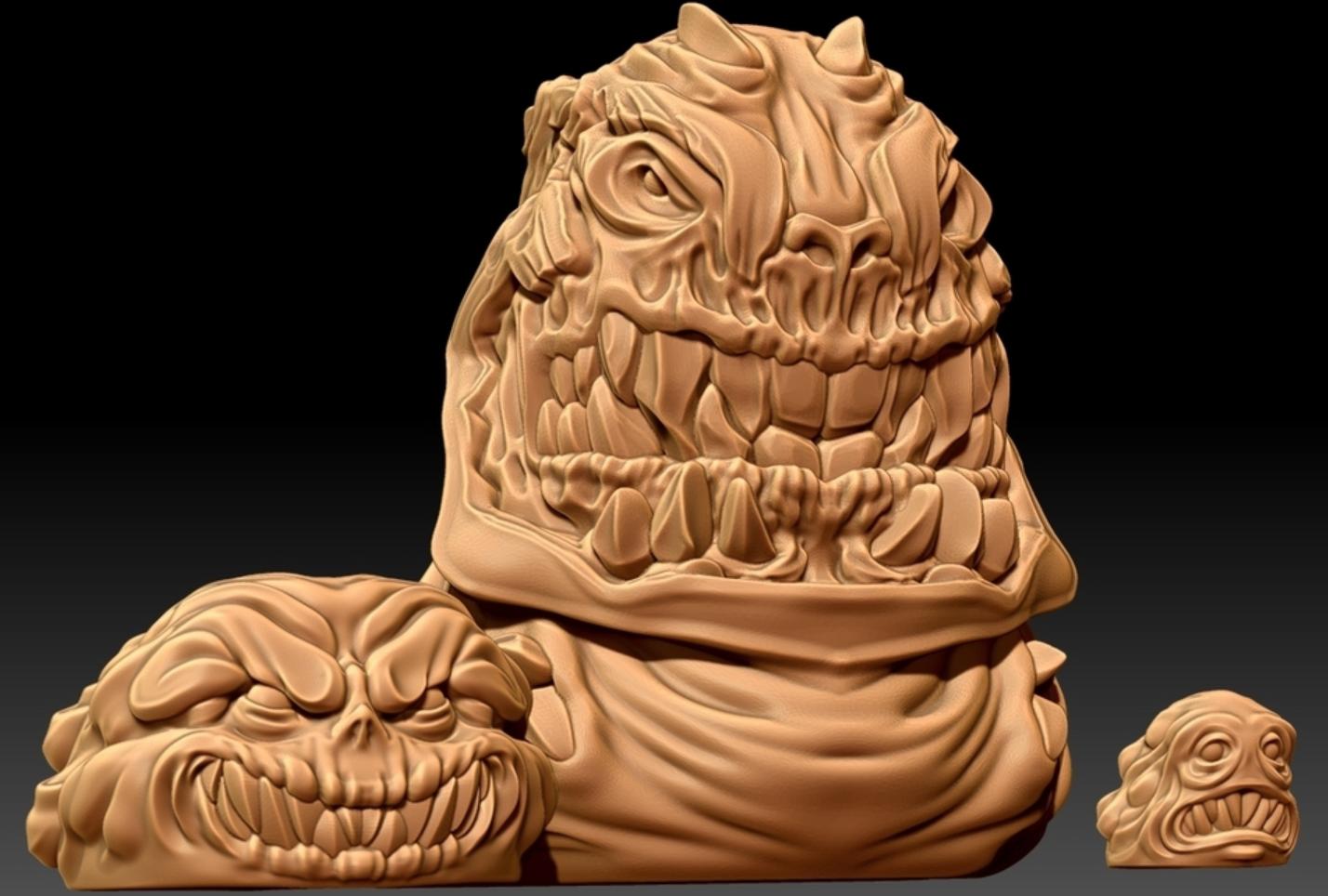 Capture d'écran 2018-01-24 à 12.03.03.png Download free STL file Evil Blob Trio • 3D printer model, HeribertoValle