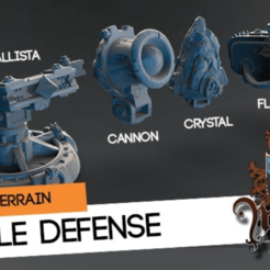 Descargar Modelos 3D para imprimir gratis Defensa del castillo, HeribertoValle