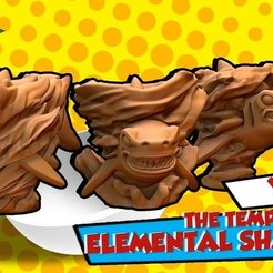 Download free 3D printer files The temple of elemental Sharknados, HeribertoValle