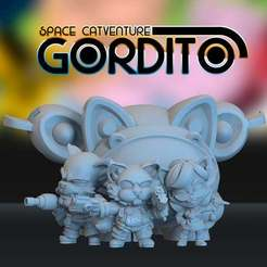 Download free STL files Space Catventure Gordito Playset, HeribertoValle