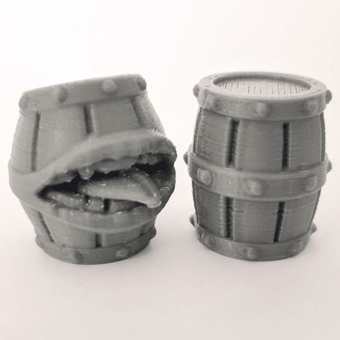 Download free 3D printing files Barrel and Mimic Barrel, daandruff