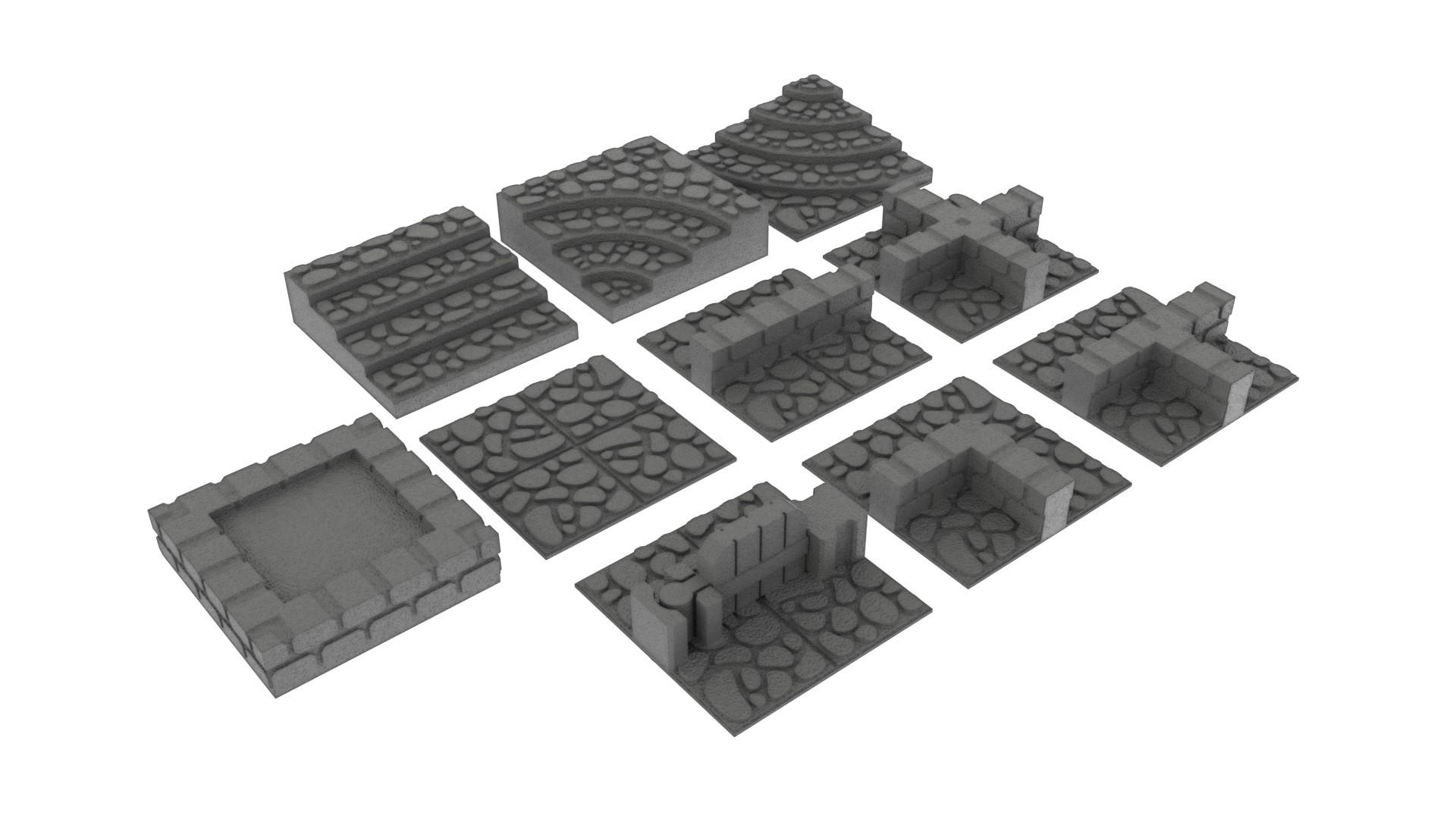 render.jpg Télécharger fichier STL GeneriTiles - Topset de table RPG • Modèle pour imprimante 3D, daandruff