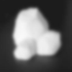Download free 3D printer designs  Cluster of Rocks, daandruff