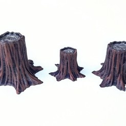 Download free 3D printing files Wood Stump, daandruff