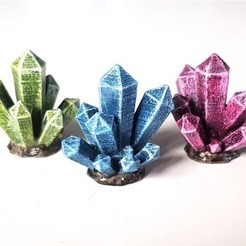 Download free 3D printing templates Crystal Cluster, daandruff