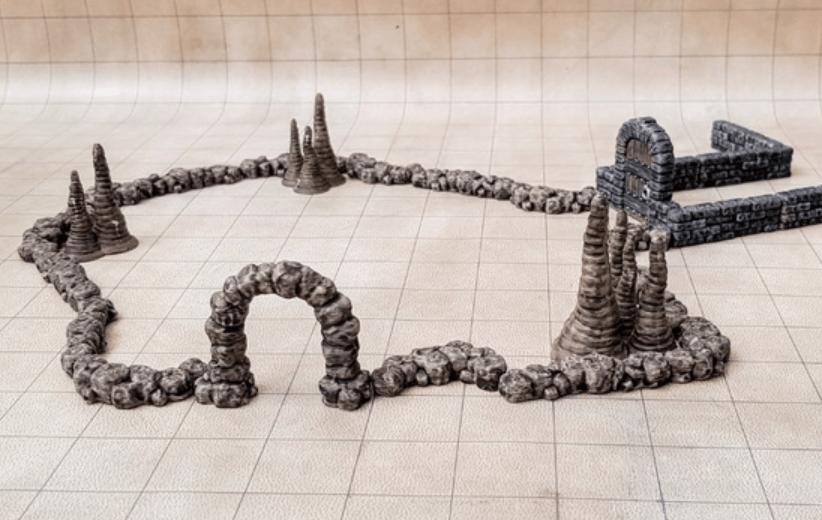 Capture d'écran 2018-07-04 à 11.18.03.png Download free STL file Dungeon Wall Curved • 3D printer model, daandruff