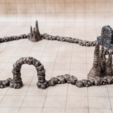 Download free 3D printer designs Dungeon Wall Curved, daandruff