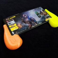 Download free STL file Mobile Gaming Grip • 3D printer model, daandruff
