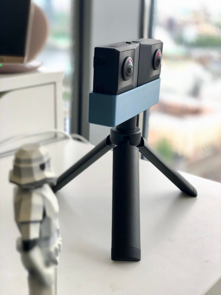 d8ec625e1d6936e725cb553d40439680_display_large.jpg Download free STL file Insta360 EVO tripod mount • 3D print object, alexnz