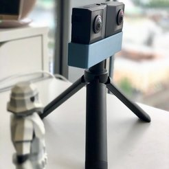 Download free STL files Insta360 EVO tripod mount, alexnz