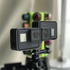 Free 3D print files Gopro Hero5 stereo rig, alexnz