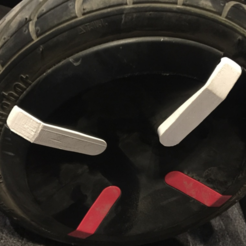 Free Ninebot mini Pro Wheel Blades STL file, alexnz