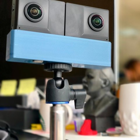 e63e36a7f94e7438070816ca4802bde6_display_large.jpg Download free STL file Insta360 EVO tripod mount • 3D print object, alexnz