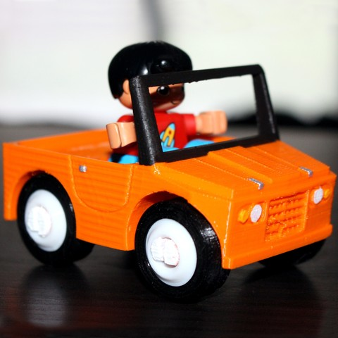 3D printer files CITROËN MEHARI - DUPLO COMPATIBLE, HellBoy