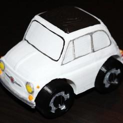 Imprimir en 3D gratis Fiat 500 - Compatible con Duplo, HellBoy