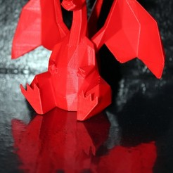 Modelos 3D para imprimir gratis Charizard Pokemon Bajo-Poli, HellBoy
