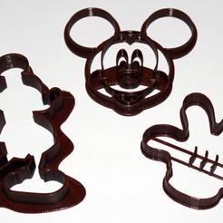 Diseños 3D gratis Cookie_cutter_Mickey, HellBoy
