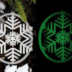 Diseños 3D gratis Copo de nieve giroscópico, HellBoy