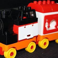 Free STL file LEGO Duplo Train (steam locomotive), HellBoy