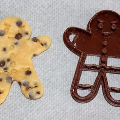 Download free STL files Gingerbread Cookie Cutter, HellBoy