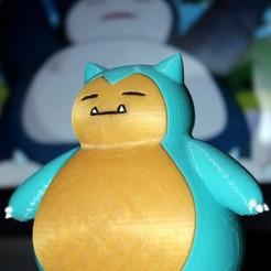 STL gratis Snorlax / Pokemon / Ronflex / 卡 比 獸 / カ ビ ゴ ン, HellBoy